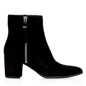 Michael Kors Dawson Mid-Boot, Black Suede Leather